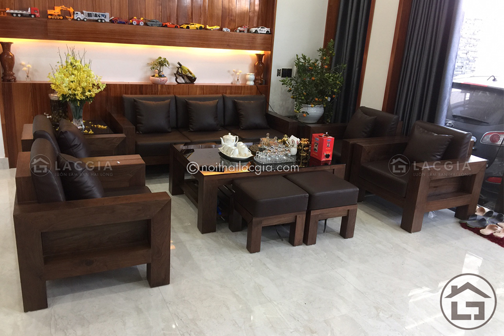 1 - Bàn ghế gỗ dạng hộp BG04-10