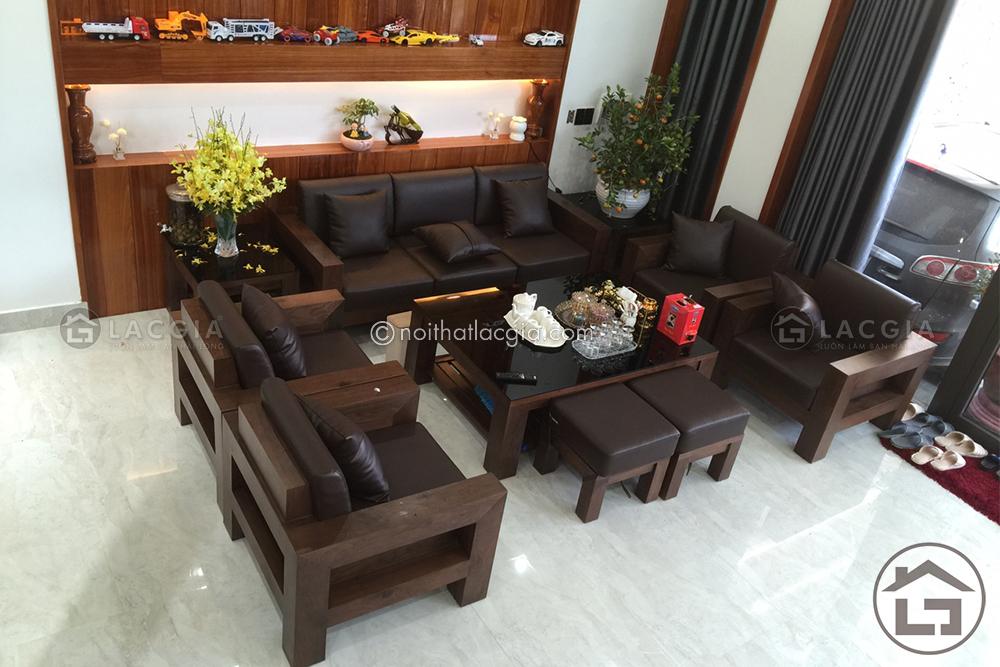 Bàn ghế gỗ đẹp cho không gian phòng khách thời thượng