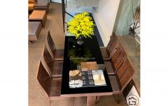 Bộ bàn ăn gỗ đẹp, hiện đại, giá tốtAC