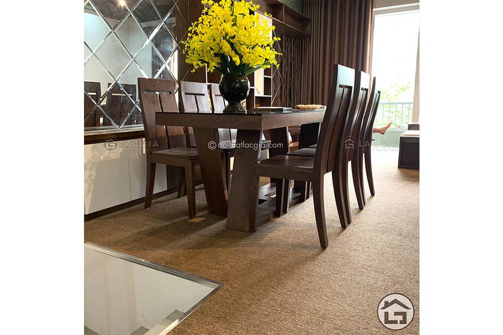 Bàn ăn gỗ đẹp BA14 3 - Xu hướng của bàn ghế ăn gỗ đẹp và độc đáo năm 2020