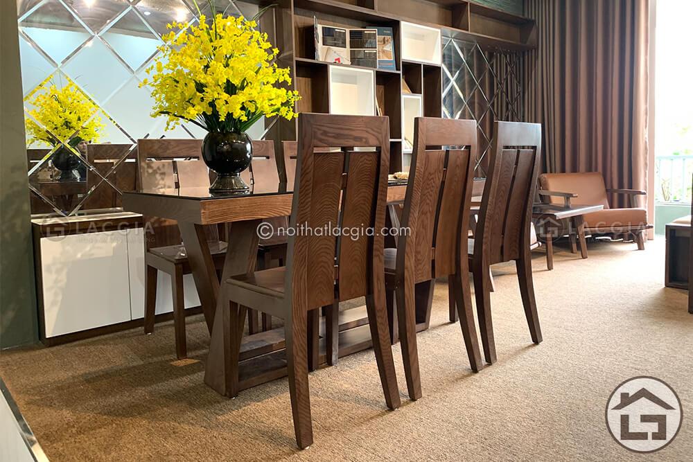 Bàn ăn gỗ đẹp BA14 7 - Những mẫu bàn ăn gỗ sồi Nga hiện đại cao cấp