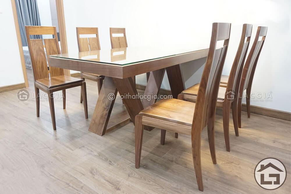 Ban an go dep BA14 - Bàn ghế ăn gỗ tự nhiên BA14