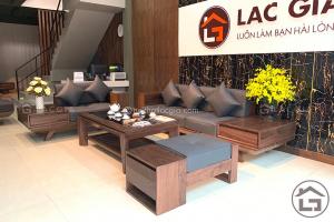 Bàn ghế sofa gỗ óc chó cao cấp với chất liệu gỗ óc chó