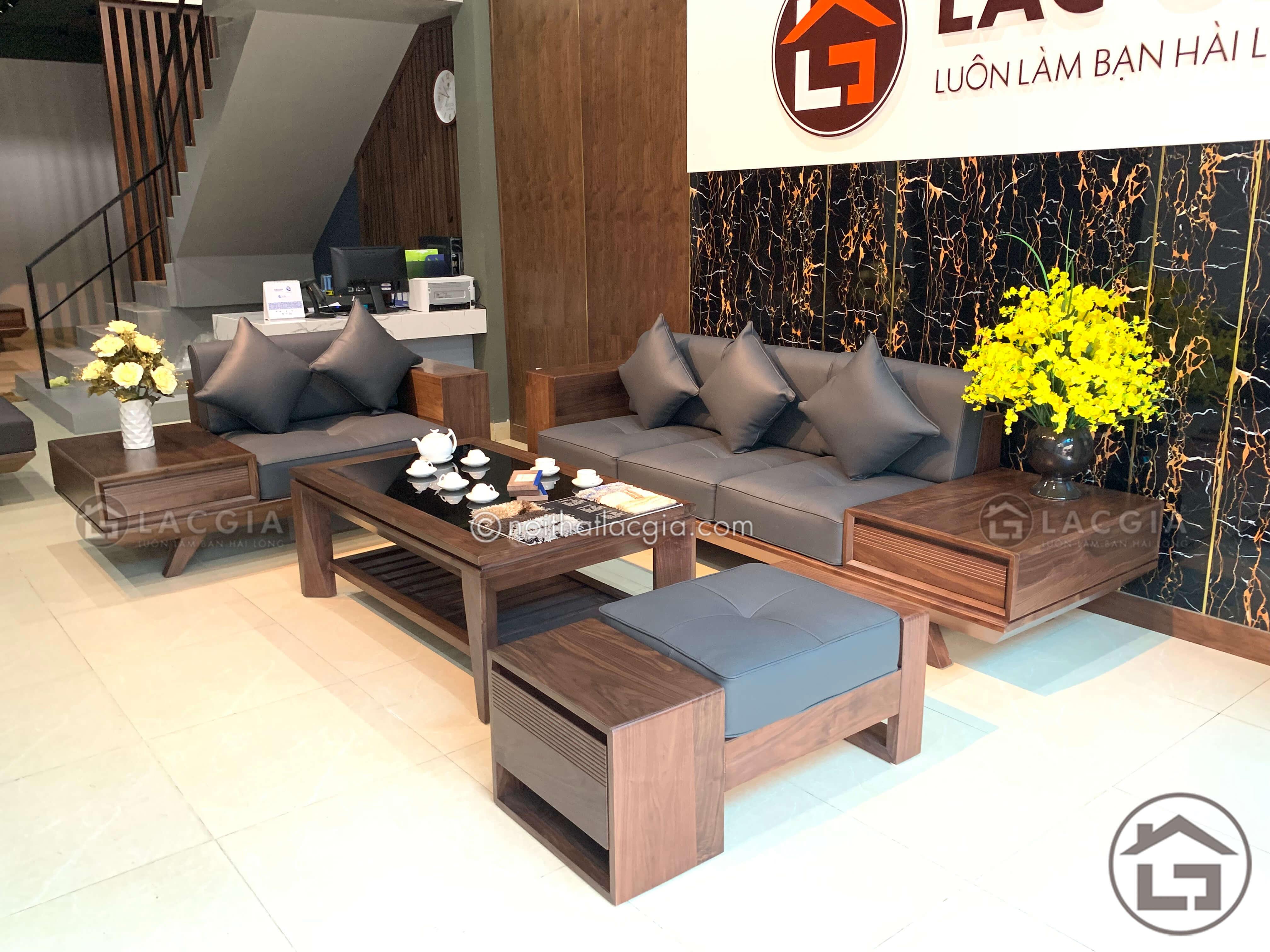 Sofa gỗ cao cấp,hiện đại, sang trọng
