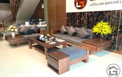 Sofa gỗ cao cấp cho phòng khách