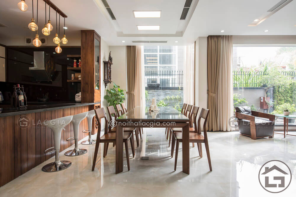 chọn ban an dep 3 - Bí quyết chọn bộ bàn ăn đẹp phù hợp với không gian nhà bếp