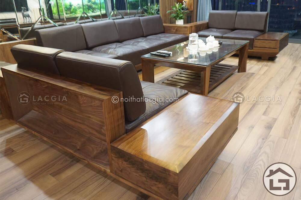 Sofa gỗ cao cấp tại Nội Thất Lạc Gia