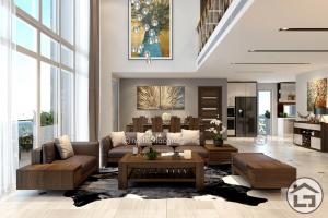 Bàn ghế sofa gỗ cho phòng khách