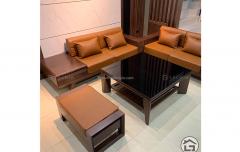 Sofa gỗ sồi đẹp SF19