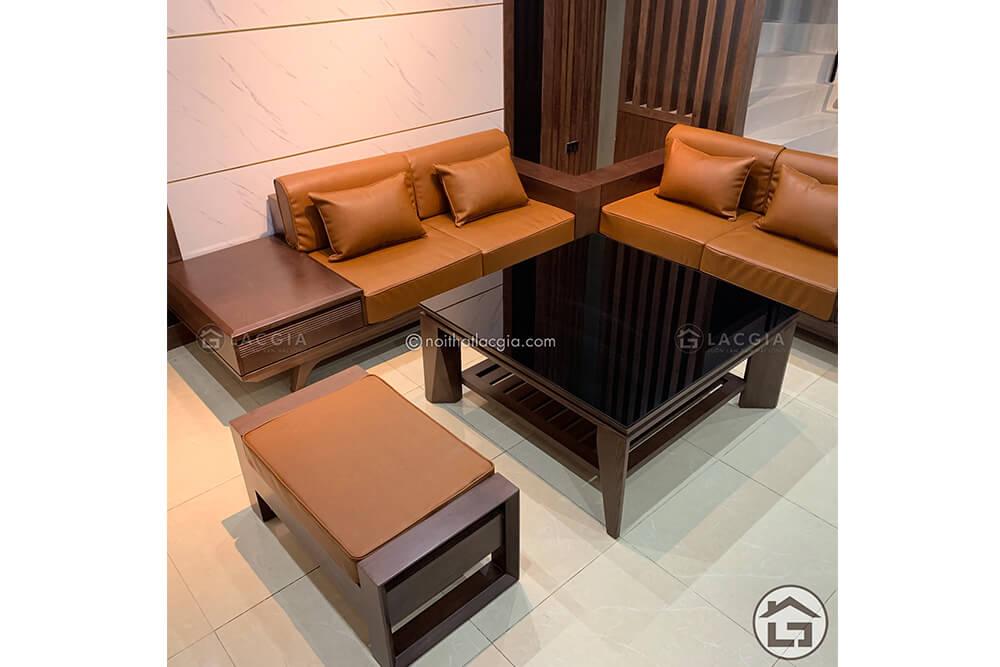 sofa cao cap sf19 9 - Bộ sưu tập các mẫu Sofa gỗ sồi nga cao cấp của Lạc Gia