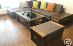 Sofa gỗ hiện đại chữ L