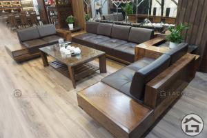 Bàn ghế sofa gỗ hiện đại tại Lạc Gia