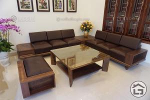 Sofa gỗ cao cấp làm từ gỗ óc chó