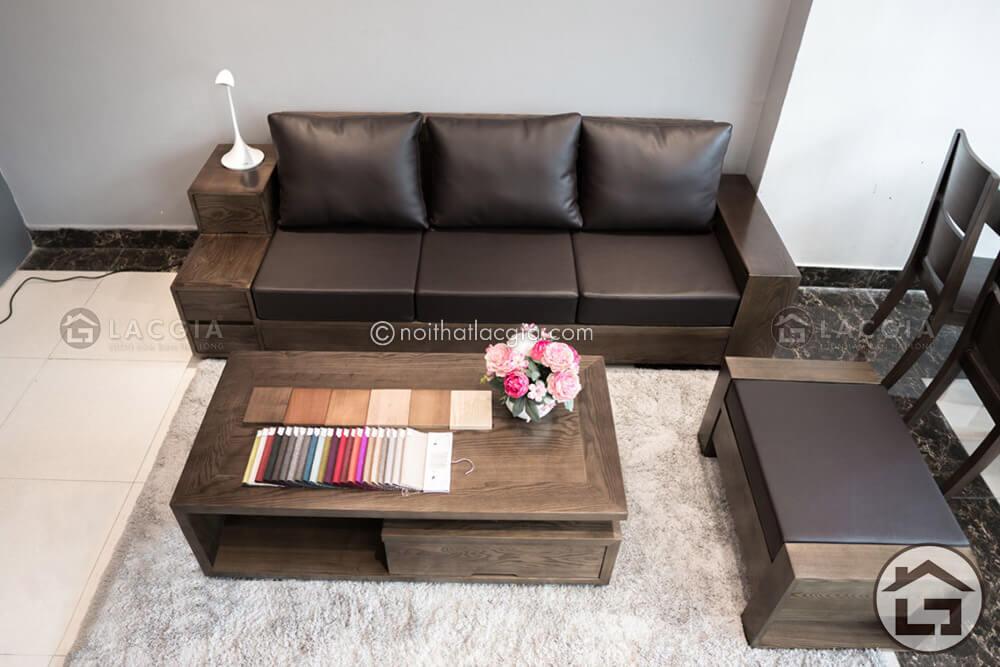 Mẫu sofa gỗ cho chung cư SF15