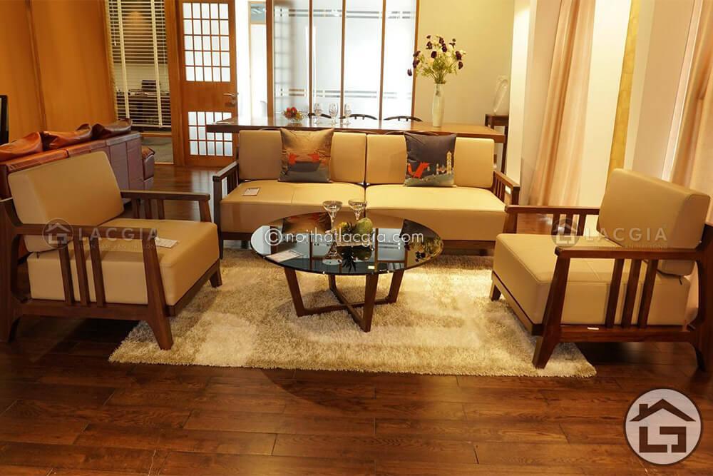 Sofa gỗ phòng khách, sofa gỗ hiện đại