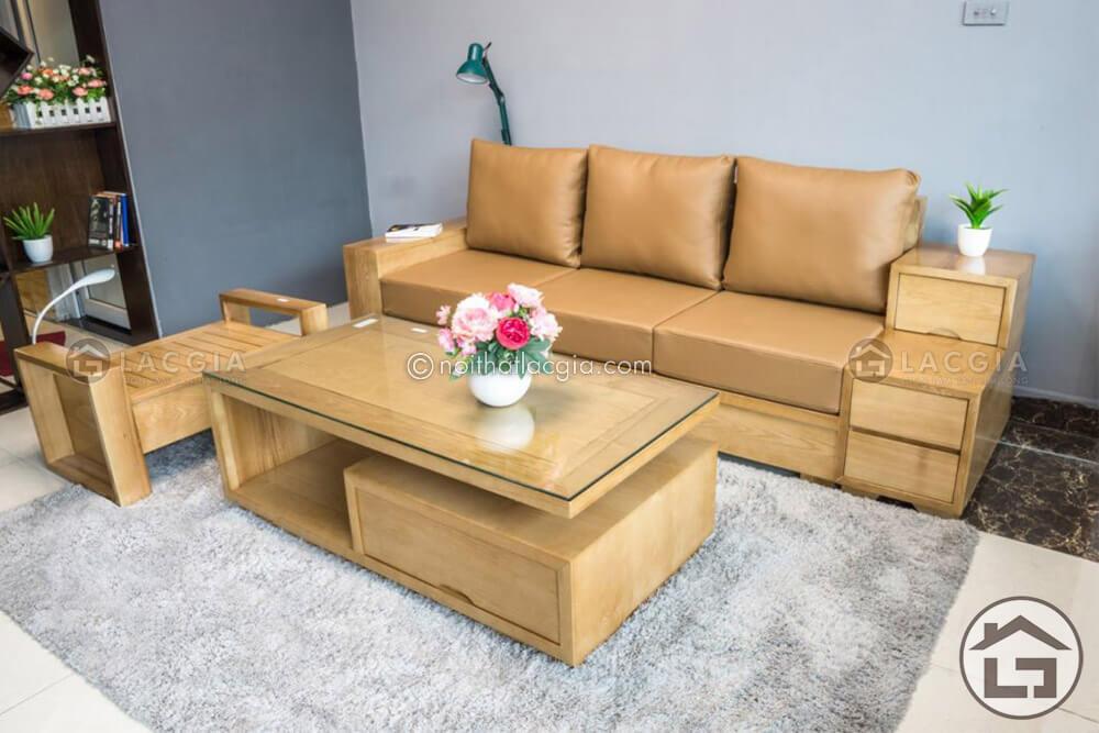 sofa go hien dai 2 1 - Sofa gỗ xoan đào là gì? Có nên mua sofa gỗ xoan đào không?