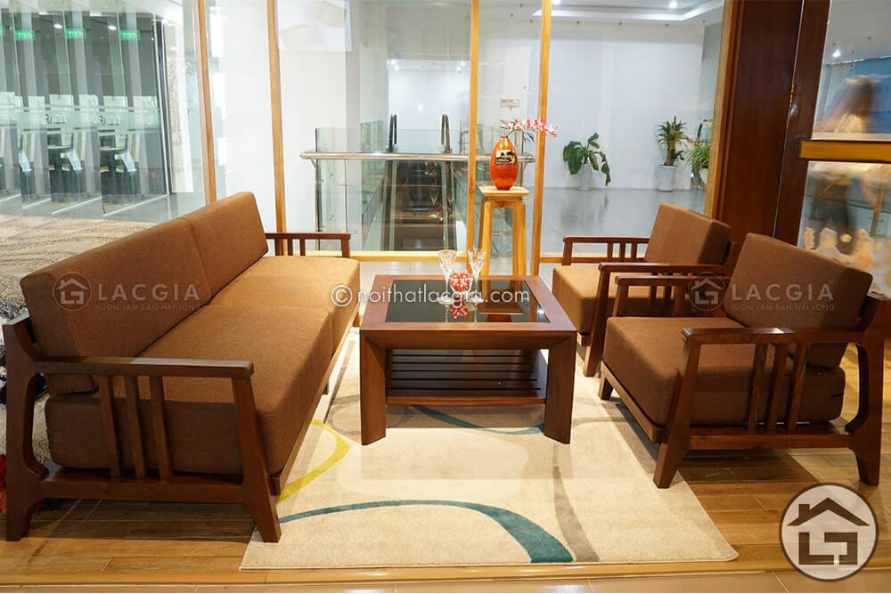Bàn ghế sofa gỗ giá rẻ tại Lạc Gia