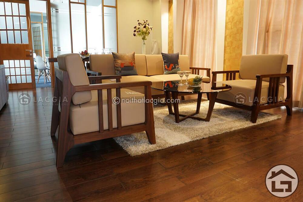 bộ ghế sofa gỗ hợp người mệnh thủy