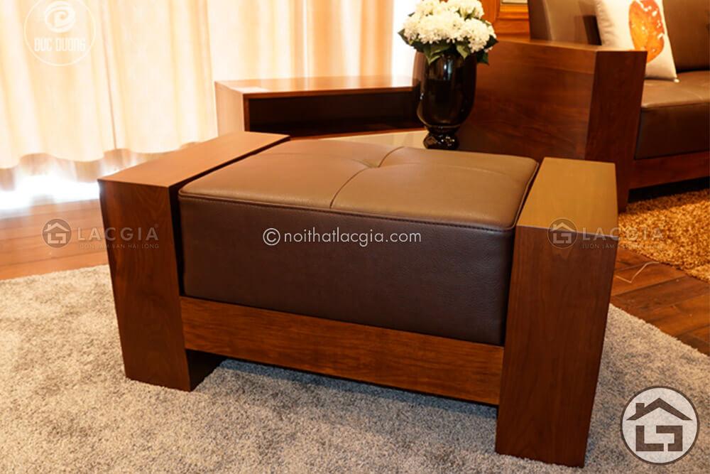 Sofa gỗ chữ L, sofa gỗ hiện đại
