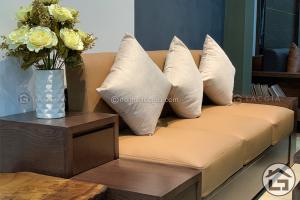 Sofa gỗ nhỏ gọn giá rẻ phù hợp với căn hộ chung cư