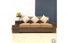 văng - sofa gỗ hiện đại, nhỏ gọn cho chung cư