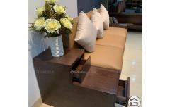 Sofa gỗ nhỏ gọn cho chung cư giúp tiết kiệm tối đa không gian diện tích căn phòng