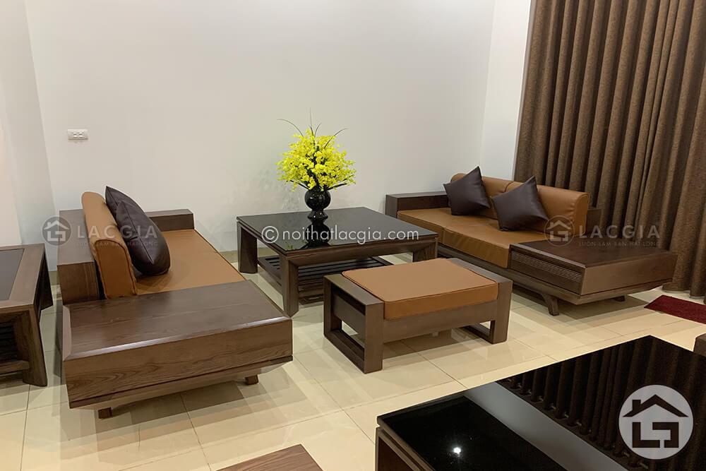 Sofa gỗ sang trọng cho phòng khách đẹp