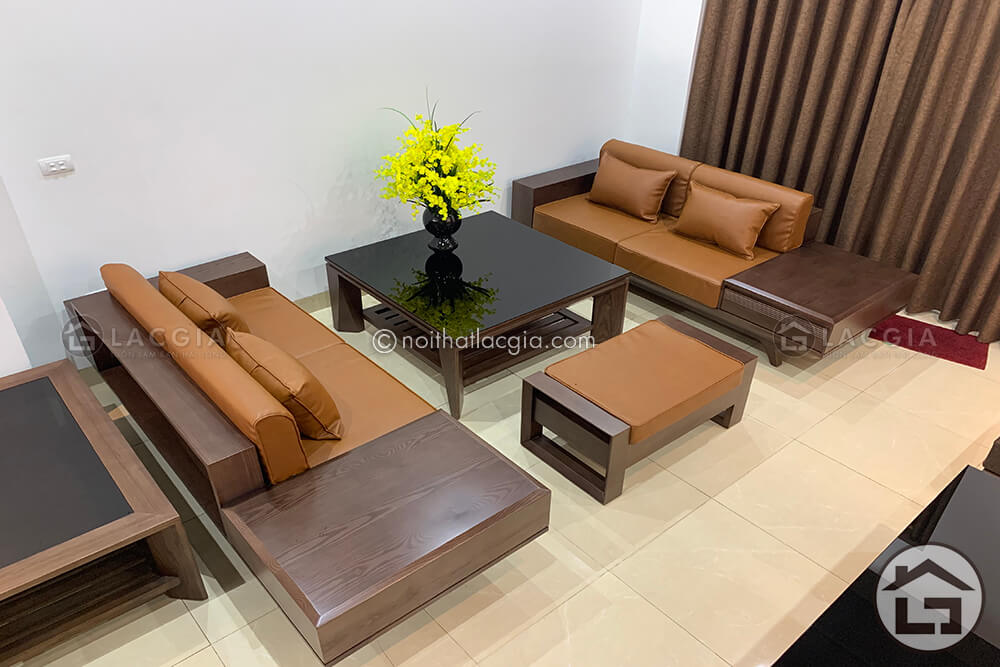 sofa gỗ cao cấp dành cho người mệnh thổ