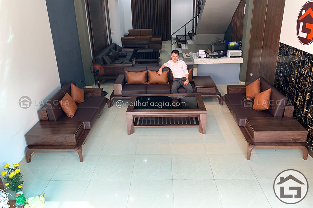 sofa go cao cap SF23 3 - Nơi mua sofa gỗ tốt nhất tại Hà Nội