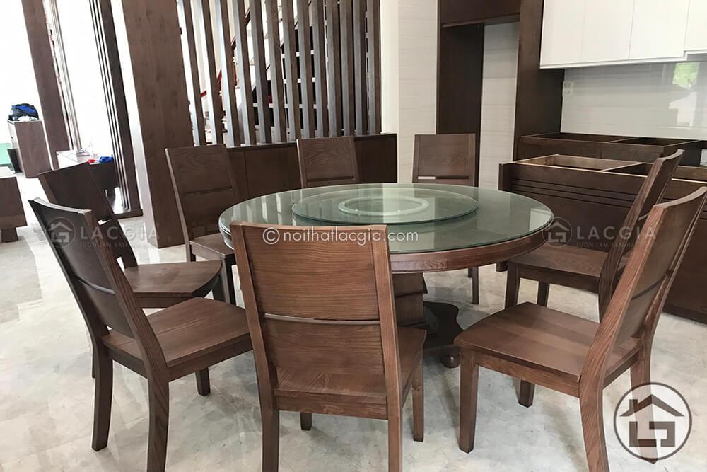 Kích thước tiêu chuẩn của bộ bàn ăn gỗ hình tròn