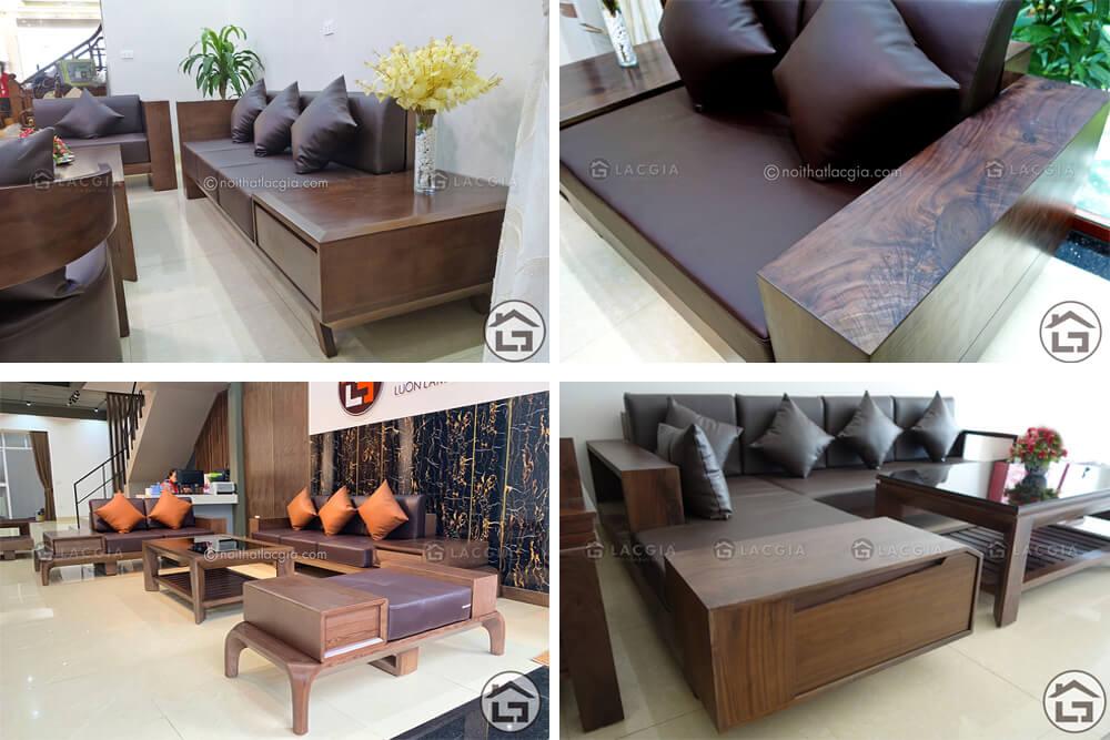 ban ghe sofa go phong khach 1 - 10 ưu điểm của nội thất gỗ trong không gian sống hiện đại