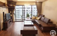 Sofa gỗ chữ L cho phòng khách nhỏ, sofa gỗ hiện đại