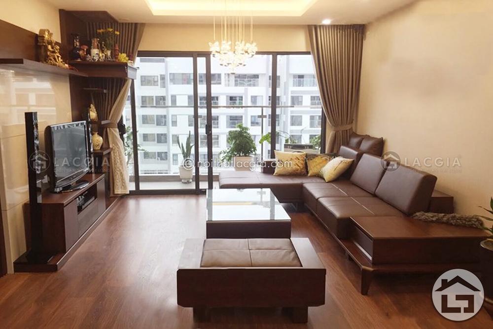 Gỗ tự nhiên để sản xuất sofa gỗ cho phòng khách được xử lý hiện đại