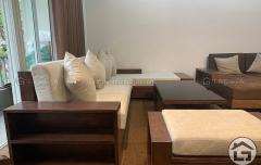 Sofa gỗ chữ L cho chung cư