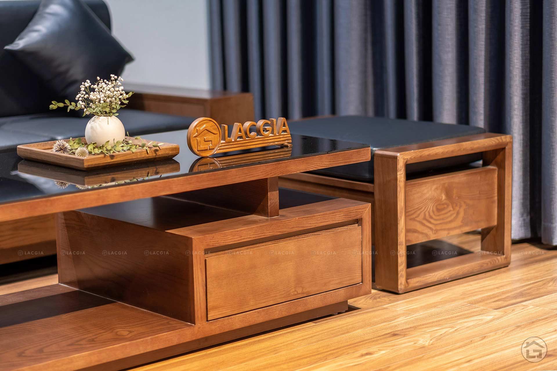 sofa go goc chu L SF24 6 - Sofa gỗ nhỏ gọn SF24