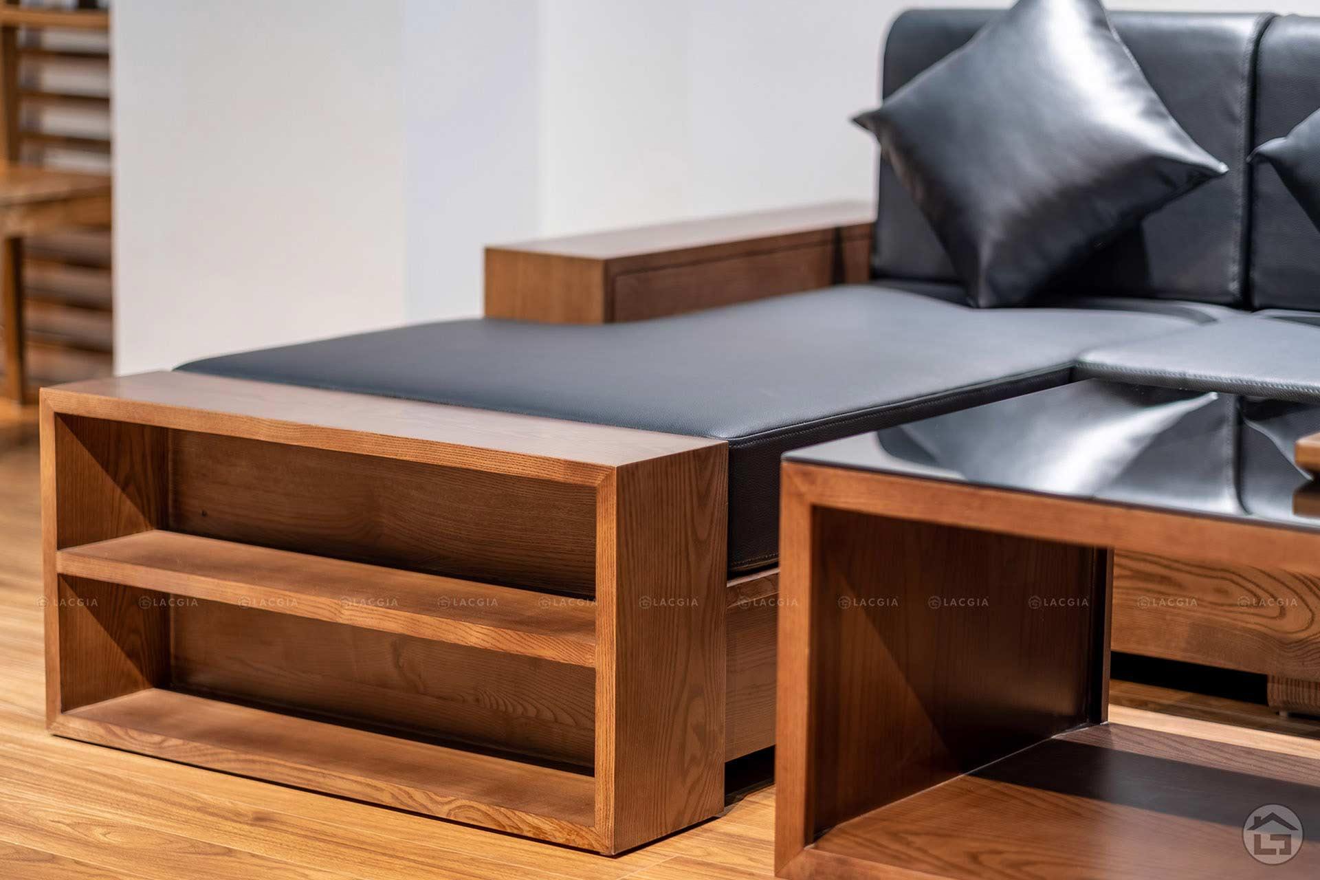 sofa go goc chu L SF24 7 - Sofa gỗ nhỏ gọn SF24