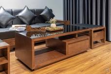 Sofa gỗ chữ L cho phòng khách vừa và nhỏ