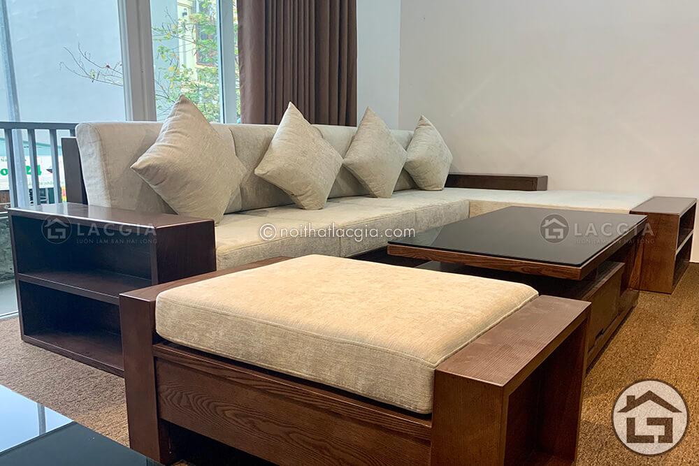 Sofa gỗ nhỏ gọn cho căn hộ vừa và nhỏ