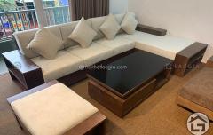 Đệm nỉ cho sofa gỗ