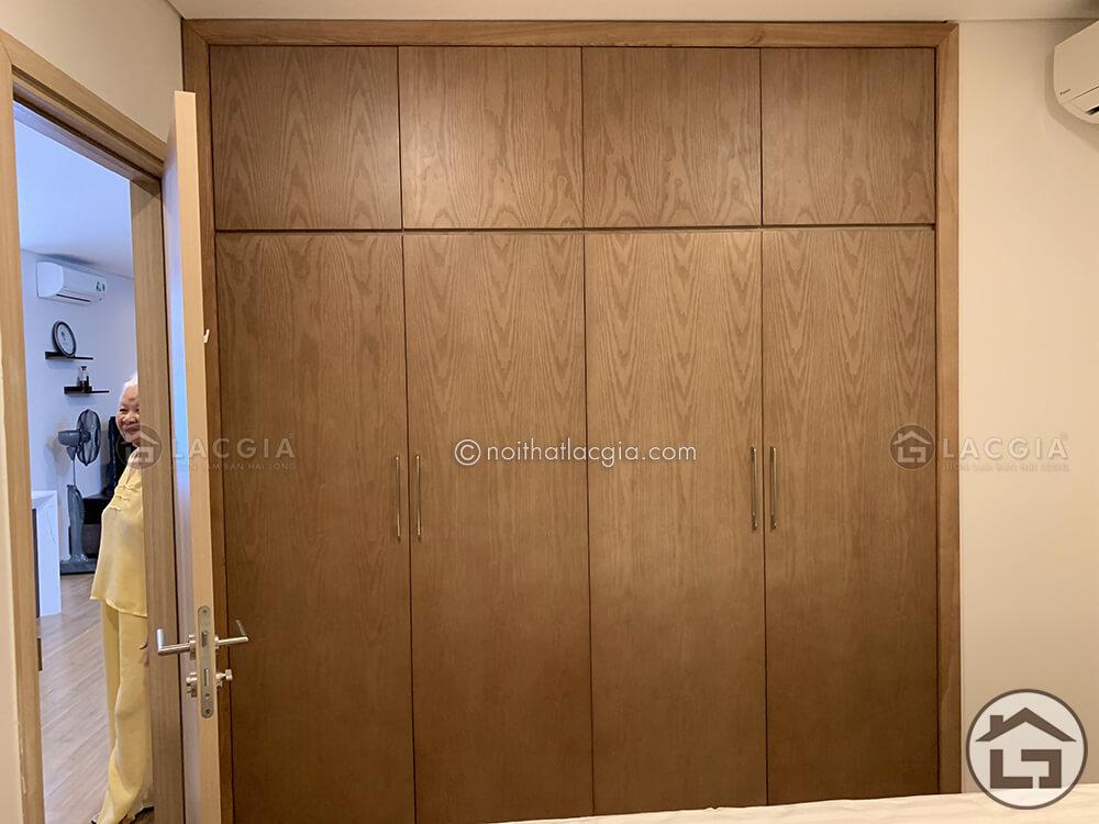 Tủ quần áo gỗ phòng ngủ chung cư cao cấp nhà chị Hằng 16