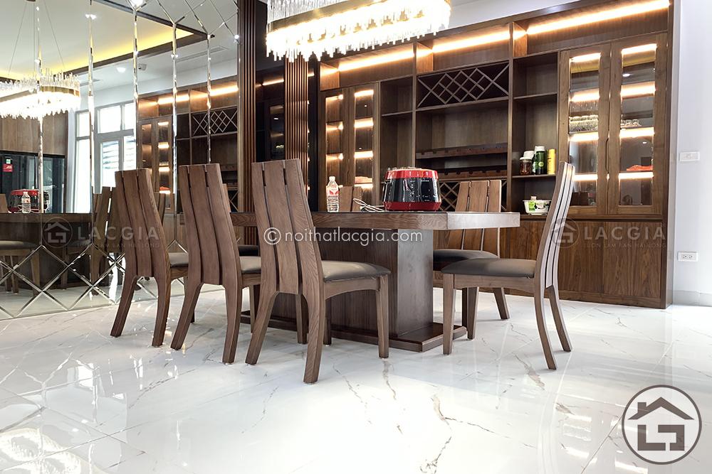 Thi công và thiết kế nội thất gỗ chung cư cao cấp của chị Linh 7