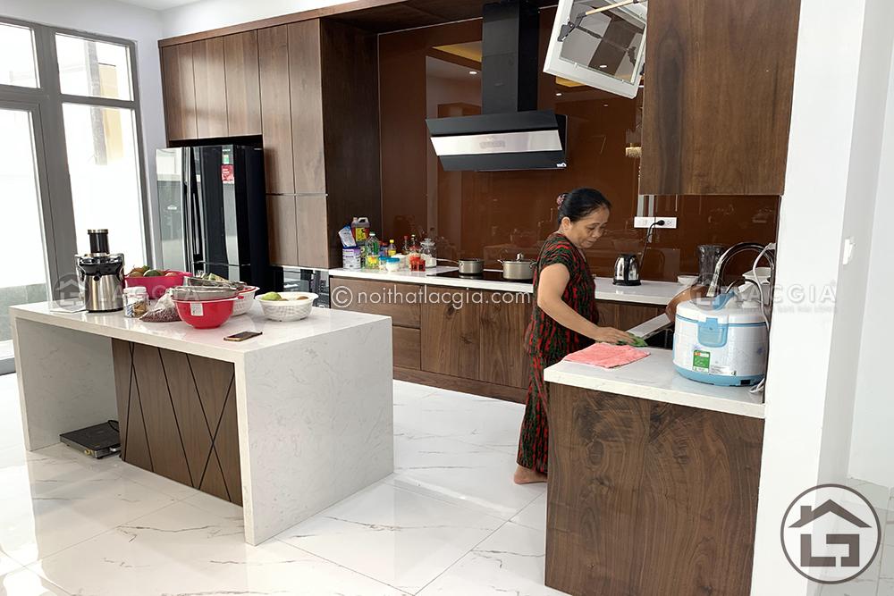 thi cong va thiet ke noi that go chung cu cao cap cua chi Linh 6 - 3 Mẫu thiết kế và thi công nội thất cho chung cư 60m2