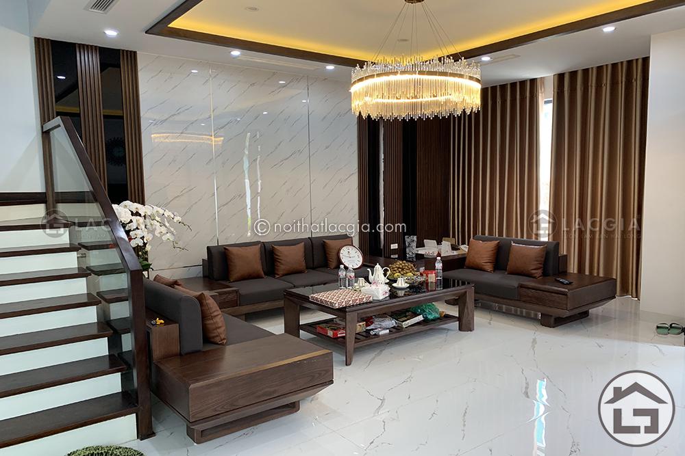 thiet ke noi that go phong khach 1 - Những kiểu dáng sofa gỗ phòng khách phổ biến hiện nay