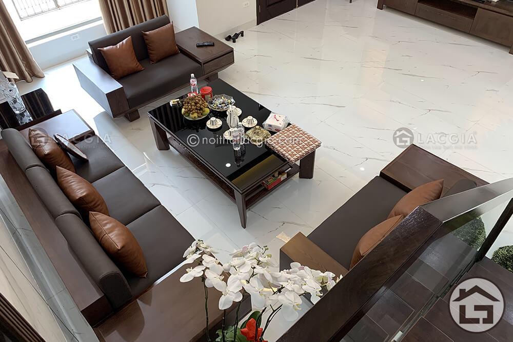 Thi công và thiết kế nội thất gỗ chung cư cao cấp của chị Linh 5
