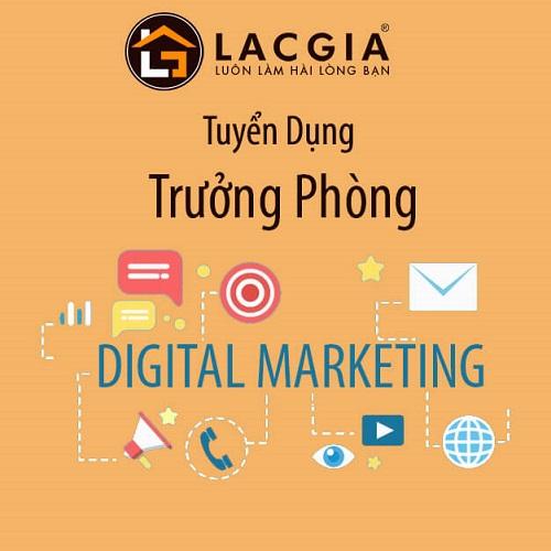Tuyển dụng Trưởng Phòng Digital Marketing