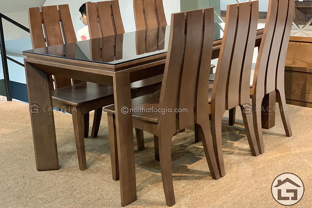 ban an go hien dai ba07 9 - Bàn ghế ăn gỗ hiện đại BA07