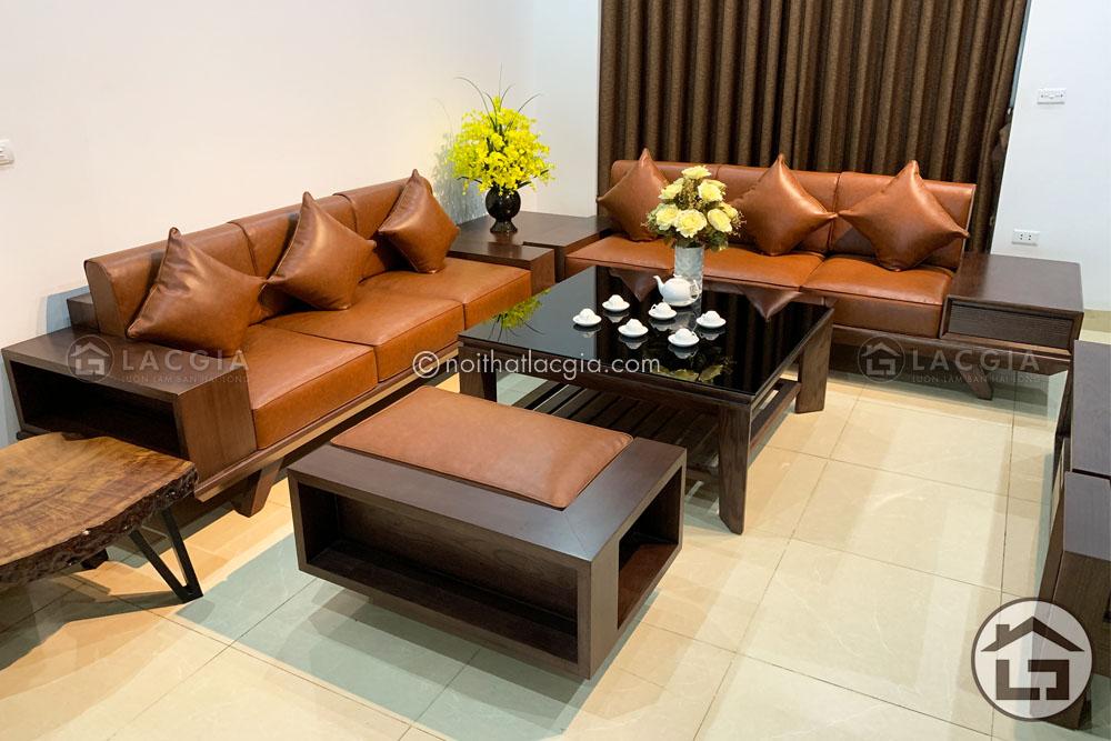sofa go cao cap SF17 16 - Sofa gỗ óc chó cao cấp SF29 Plus