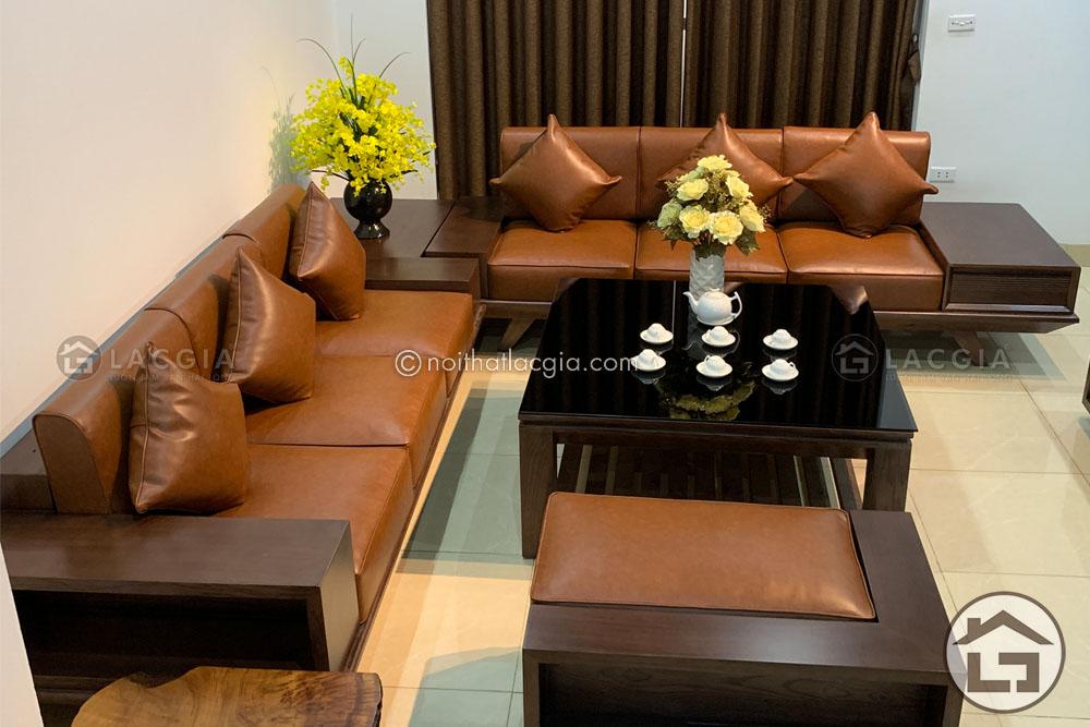 Sofa gỗ hiện đại cho chung cư đẹp