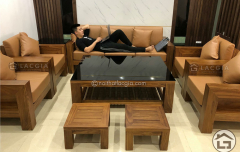 Bàn ghế gỗ óc chó cao cấp, hiện đại