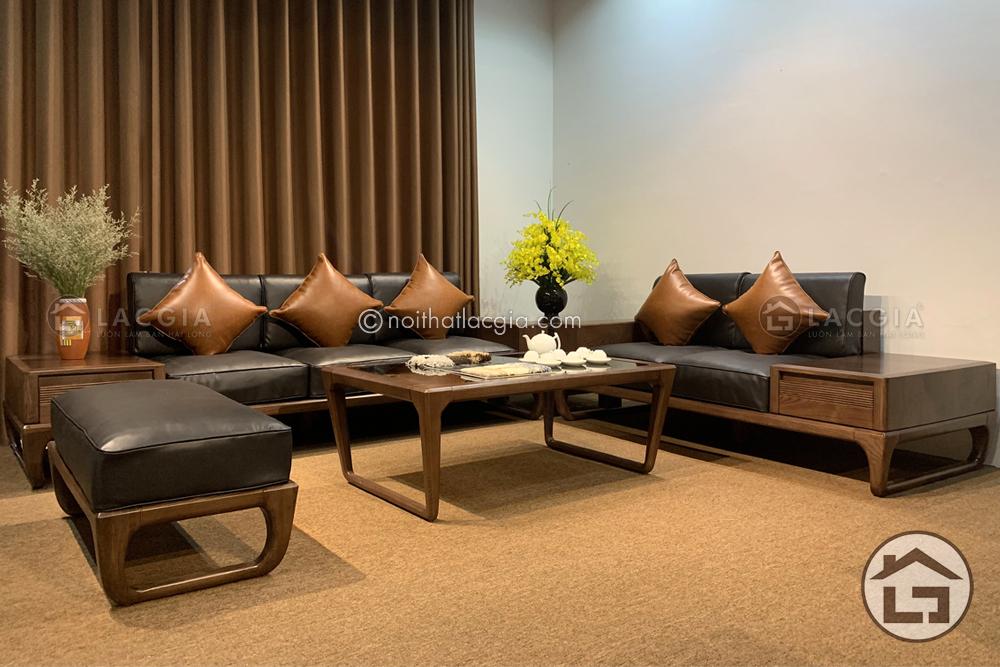 sofa go cao cap sf26 1 12 - Sofa gỗ óc chó cao cấp SF29 Plus